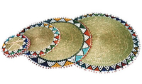 Ndebele Grass & Bead Coasters - Set of 4