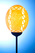 Ndebele Big 5 Ostrich Egg Lamp