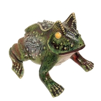 Horned Frog - Raku Ceramic Art