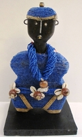 Cameroon Namji Doll 004 - Small - Blue