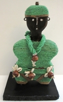 Cameroon Namji Doll 007 - Small - Green
