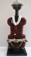 Cameroon Namji Doll 008 - Medium - Maroon