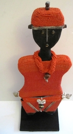 Cameroon Namji Doll 019 - Large - Red