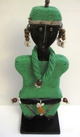 Cameroon Namji Doll 016 - Large - Green