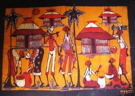 Mozambique original batik painting  #001