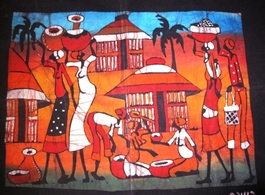 Mozambique original batik painting  #004