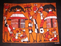 Mozambique original batik painting  #002