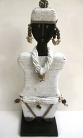 Cameroon Namji Doll 015 - Large - White