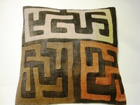 African Kuba Cloth Pillow Cover A2454