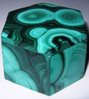 Malachite Box #001 - Hexagon Design