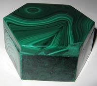 Malachite Box #009 - Hexagon Design