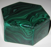 Malachite Box #007 - Hexagon Design