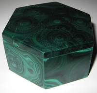 Malachite Box #011 - Hexagon Design