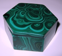 Malachite Box #012 - Hexagon Design