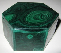 Malachite Box #010 - Hexagon Design