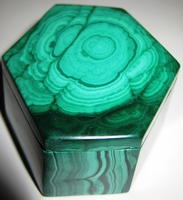 Malachite Box #013 - Hexagon Design