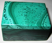 Malachite Box #014 - Rectangular Design