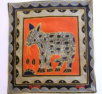 100% Hand-Embroidered Shangaan Cushion Cover  #3312