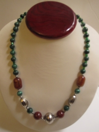 Malachite Necklace #003