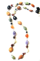African Gemstone Combo Necklace