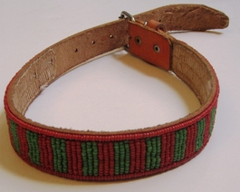 Kenyan Massai Beaded Dog Collar  #008
