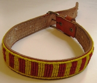 Kenyan Massai Beaded Dog Collar  #005