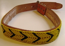 Kenyan Massai Beaded Dog Collar  #007