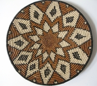 Saucer Shaped Mbenge Zulu Basket  #009