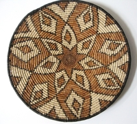 Saucer Shaped Mbenge Zulu Basket  #010