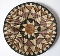 Saucer Shaped Mbenge Zulu Basket  #008