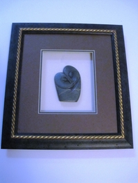 Couple in Unity Stone Carving Shadow Box