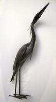 Heron Metal Sculpture - Medium
