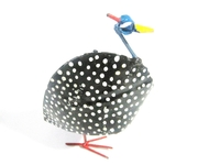 Guinea Fowl Metal Sculpture