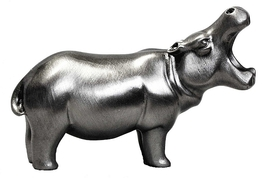 Hippo (Mouth Open) Pewter Carving