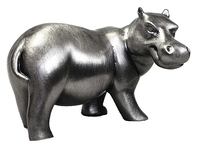 Hippo (Mouth Closed) Pewter Carving