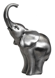 Elephant (Trunk up) Pewter Carving