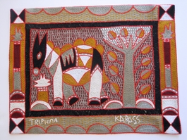 Shangaan Hand-Embroidered Placemat #3309