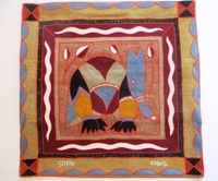 100% Hand-Embroidered Shangaan Cushion Cover  #3316