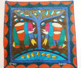 100% Hand-Embroidered Shangaan Cushion Cover  #3319