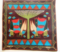 100% Hand-Embroidered Shangaan Cushion Cover  #3318