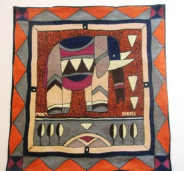 100% Hand-Embroidered Shangaan Cushion Cover  #3320