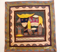 100% Hand-Embroidered Shangaan Cushion Cover  #3314