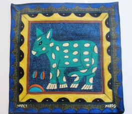 100% Hand-Embroidered Shangaan Cushion Cover  #3317