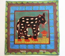 100% Hand-Embroidered Shangaan Cushion Cover  #3313