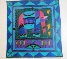 100% Hand-Embroidered Shangaan Cushion Cover  #3328