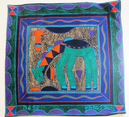 100% Hand-Embroidered Shangaan Cushion Cover  #3332