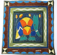 100% Hand-Embroidered Shangaan Cushion Cover  #3354