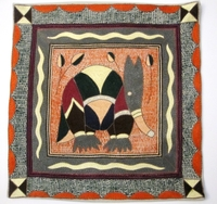 100% Hand-Embroidered Shangaan Cushion Cover  #3353