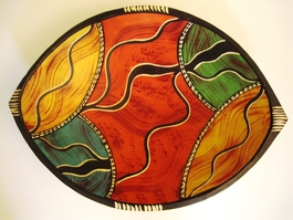 Mozambican Colorful Bowl #9