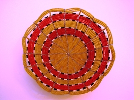 Handwoven Kenyan Beaded Bowl #001